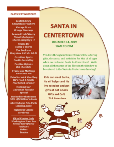 Santa in Centertown @ Just Goods Gifts and Cafe | Grand Haven | Michigan | United States